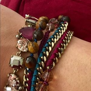 Bead + Ribbon Multi-Wrap Bracelet